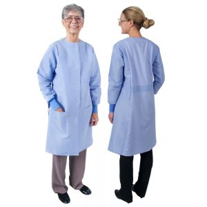 "DL151 Ladies Long Length Lab Coats (Round Neck, No Collar) (39"")"