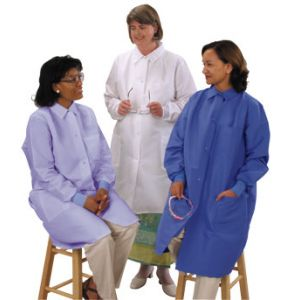 "DL151BJ Ladies Long Length Lab Coats (Traditional Collar) (39"")"
