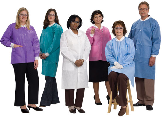 DenLine Disposable Lab Coats, Jackets, and Gowns